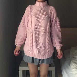Copper Key Chunky Soft Balloon Sleeve Sweater
